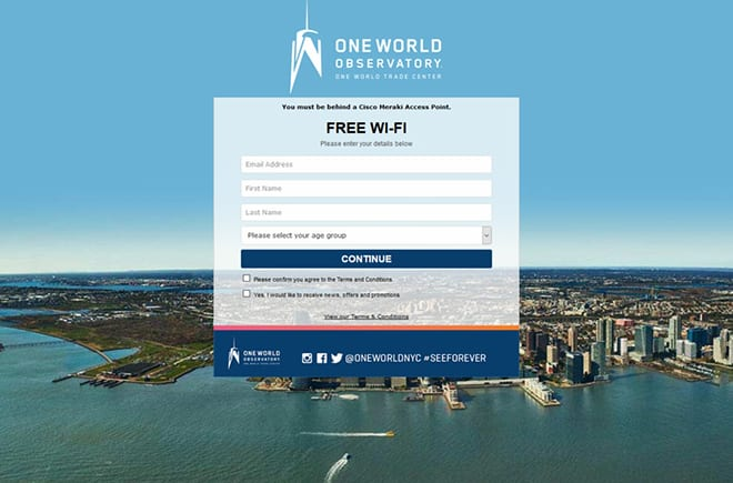 one world observatory guest Wi-Fi